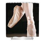 Ballet Dancer En Pointe Shower Curtain by Don Hammond