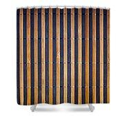 Bamboo Mat Texture Shower Curtain by Tim Hester