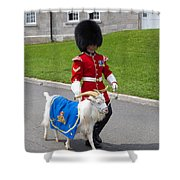 Baptiste The Goat Shower Curtain by Edward Fielding