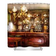 Bar - Bar And Tavern Shower Curtain by Mike Savad