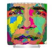 Barack Obama - Abstract 01 Shower Curtain by Samuel Majcen