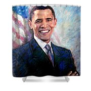 Barack Obama Shower Curtain by Viola El