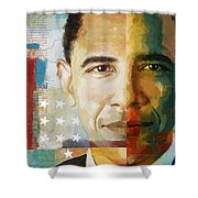 Barack Obama Shower Curtain by Corporate Art Task Force