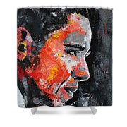 Barack Obama Shower Curtain by Richard Day