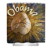 Barack Obama Sun Shower Curtain by Augusta Stylianou