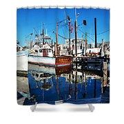 Barb Gail Harbor Corner Shower Curtain by Michael Thomas