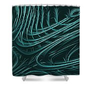 Barbed Shower Curtain by John Edwards