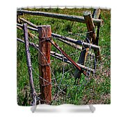 Barbed Wire Shower Curtain by Janice Rae Pariza
