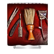 Barber - After The Haircut Shower Curtain by Paul Ward