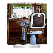 Barber - The Barber Shop Shower Curtain by Paul Ward