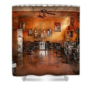 Barber - Union Nj - The Modern Salon  Shower Curtain by Mike Savad