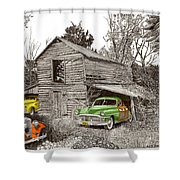Barn Finds Classic Cars Shower Curtain by Jack Pumphrey