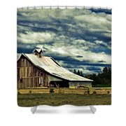Barn Shower Curtain by Steve McKinzie