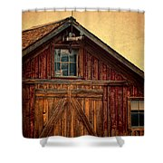 Barn With Weathervane Shower Curtain by Jill Battaglia