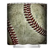 Baseball - A Retired Ball Shower Curtain by Paul Ward