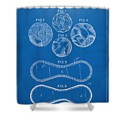 Baseball Construction Patent - Blueprint Shower Curtain by Nikki Marie Smith