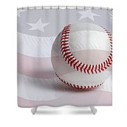 Baseball Shower Curtain by Heidi Smith
