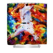 Baseball  I Shower Curtain by Lourry Legarde