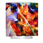 Baseball IIi Shower Curtain by Lourry Legarde