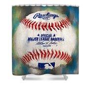 Baseball Iv Shower Curtain by Lourry Legarde