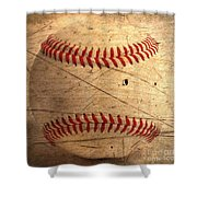 Baseball Shower Curtain by M and L Creations