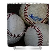 Baseball - The American Pastime Shower Curtain by Paul Ward