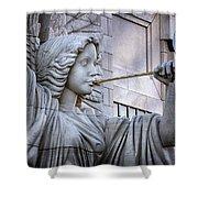 Bass Hall Angel Shower Curtain by Joan Carroll