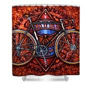 Bates Bicycle Shower Curtain by Mark Howard Jones
