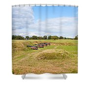 Battle of Yorktown Battlefield Shower Curtain by John Bailey
