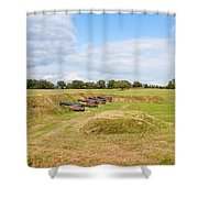 Battle Of Yorktown Battlefield Shower Curtain by John M Bailey