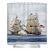 Battle Sail Shower Curtain by James Williamson