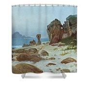 Bay Of Monterey Shower Curtain by Albert Bierstadt