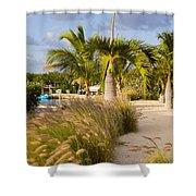 Bay Walk Shower Curtain by John Bailey
