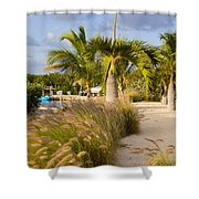 Bay Walk Shower Curtain by John M Bailey