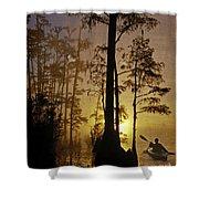 Bayou Sunrise Shower Curtain by Lianne Schneider