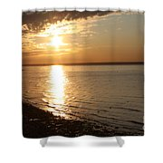 Bayville Sunset Shower Curtain by John Telfer