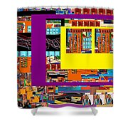 be a good friend to those who fear Hashem 12 Shower Curtain by David Baruch Wolk