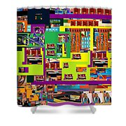 be a good friend to those who fear Hashem 13 Shower Curtain by David Baruch Wolk