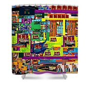 be a good friend to those who fear Hashem 15 Shower Curtain by David Baruch Wolk