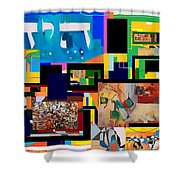be a good friend to those who fear Hashem 2 Shower Curtain by David Baruch Wolk
