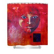 Be Golden Shower Curtain by Nancy Merkle