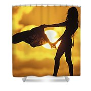 Beach Girl Shower Curtain by Sean Davey