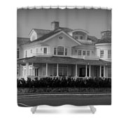 Beach House In Spring Lake - Jersey Shore Shower Curtain by Angie Tirado
