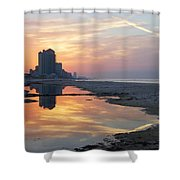 Beach Reflections Shower Curtain by Michael Thomas