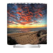 Beachcombers Sunset Shower Curtain by English Landscapes