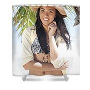 Beachy Woman Shower Curtain by Brandon Tabiolo