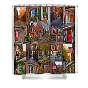 Beacon Hill - Poster Shower Curtain by Joann Vitali