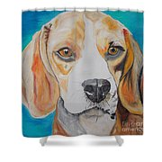 Beagle Shower Curtain by PainterArtist FIN