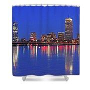 Beantown City Lights Shower Curtain by Juergen Roth