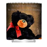 Bears Sleep By Day Shower Curtain by Darren Fisher
